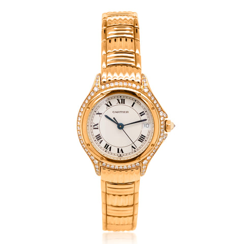 Cartier, Lady's Gold and Diamond 'Cougar' Wristwatch - Lueur Jewelry