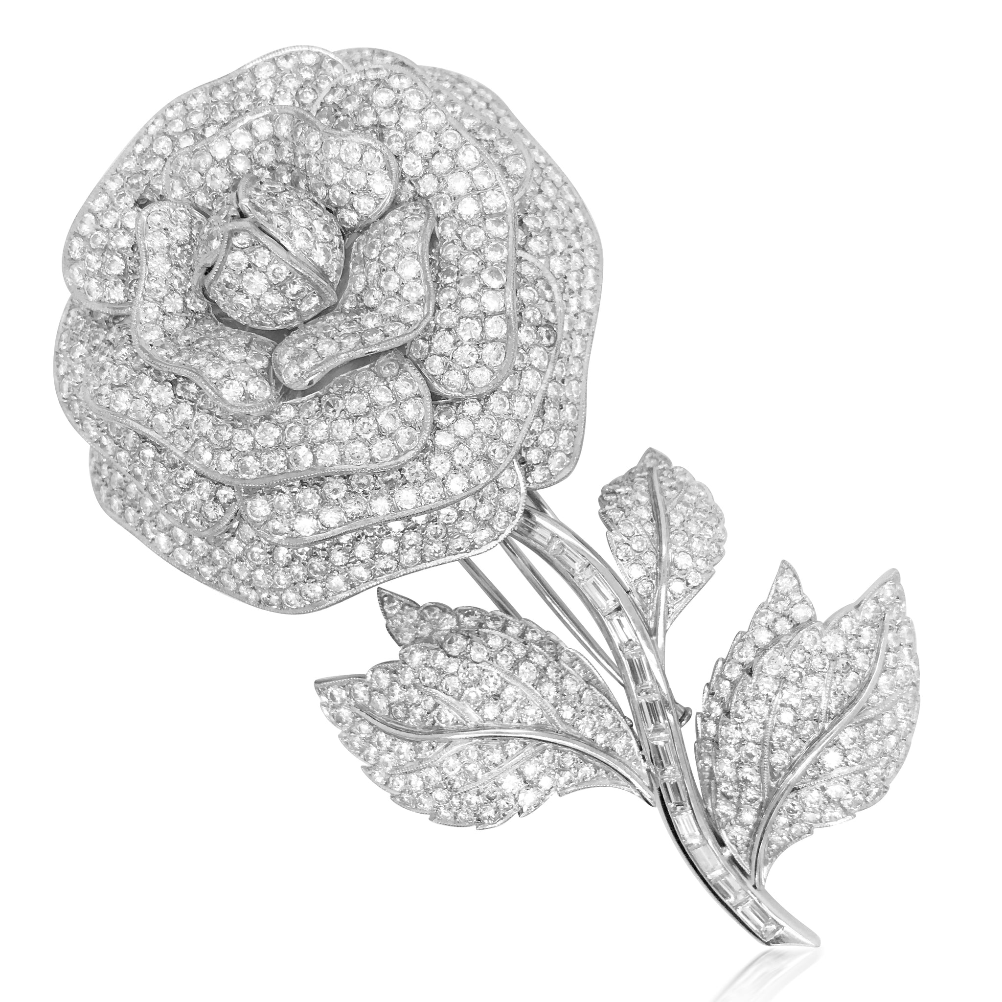 Coldwell, Diamond Flower Brooch - Lueur Jewelry