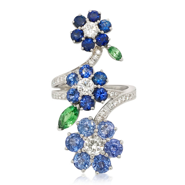 Van Cleef & Arpels, Three-Flower Ring - Lueur Jewelry