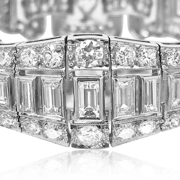 Graff, Platinum Diamond Bracelet - Lueur Jewelry