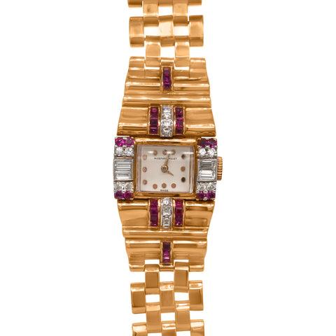Audemars Piguet, 14K Gold Diamond Watch - Lueur Jewelry