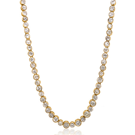 Diamond Necklace with Matching Earrings - Lueur Jewelry