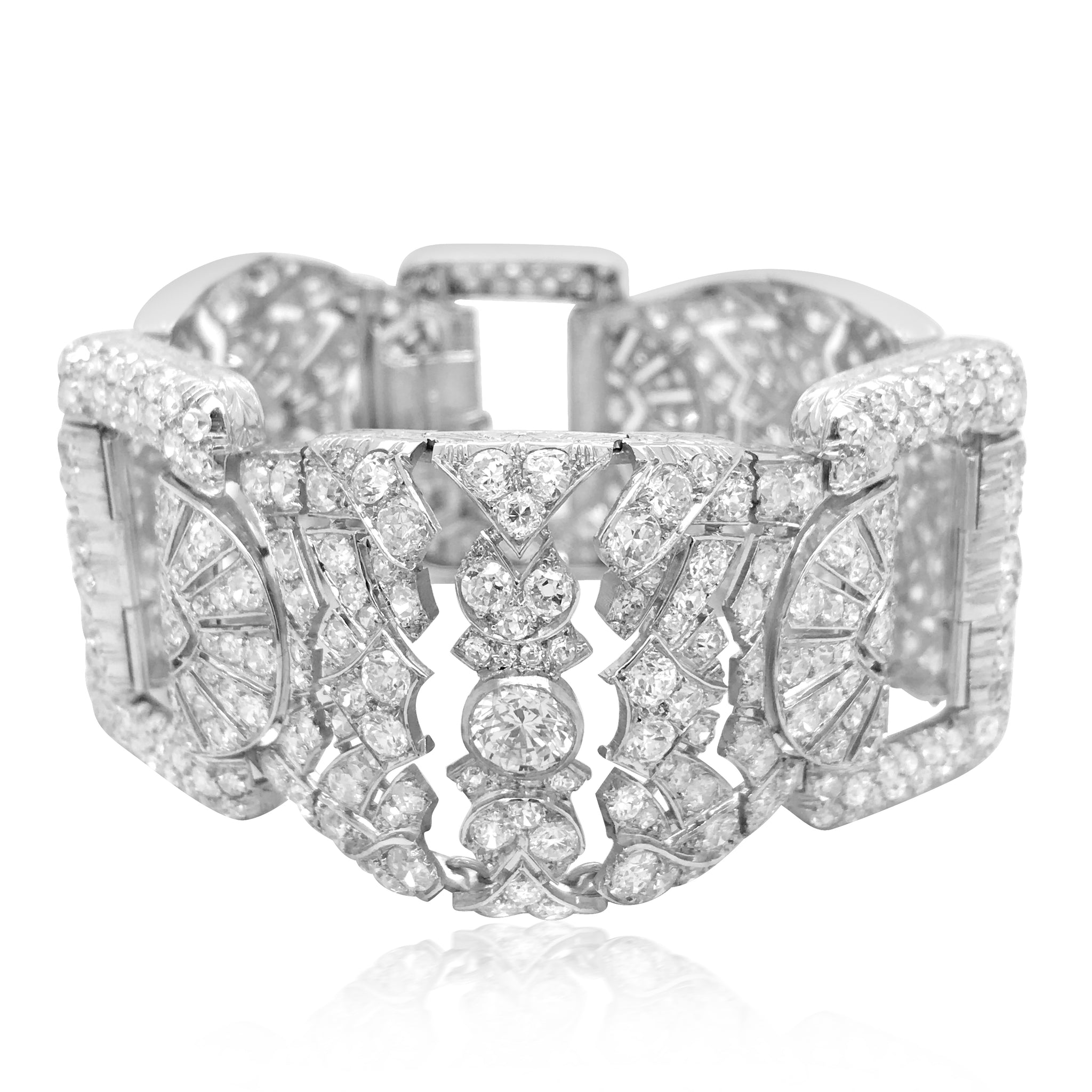 Platinum Diamond Bracelet - Lueur Jewelry