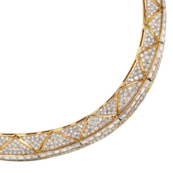 Diamond Choker Necklace - Lueur Jewelry