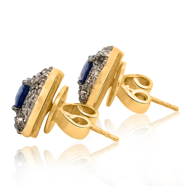 Sapphire and Diamond Earrings - Lueur Jewelry