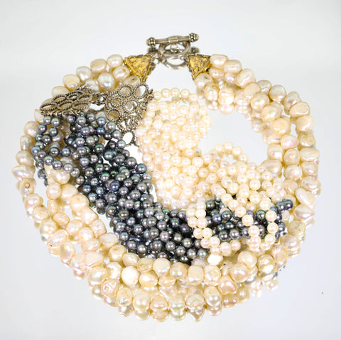 Cultured Pearl Bracelet - Lueur Jewelry
