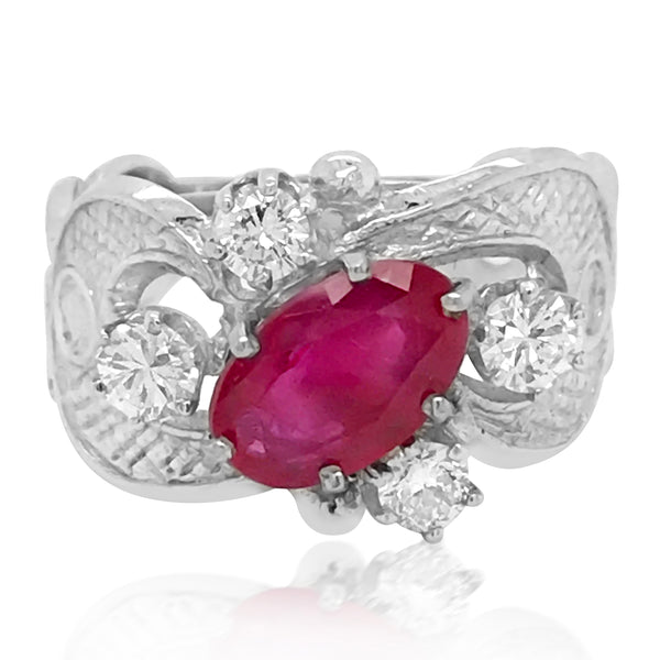 Ruby Diamond Ring - Lueur Jewelry
