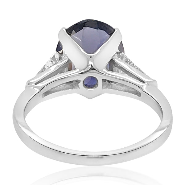 Platinum Tanzanite Diamond Ring - Lueur Jewelry