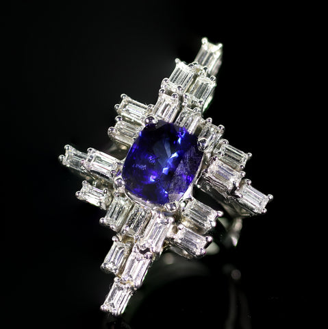 A 4.35-Carat Sapphire and Diamond Ring
