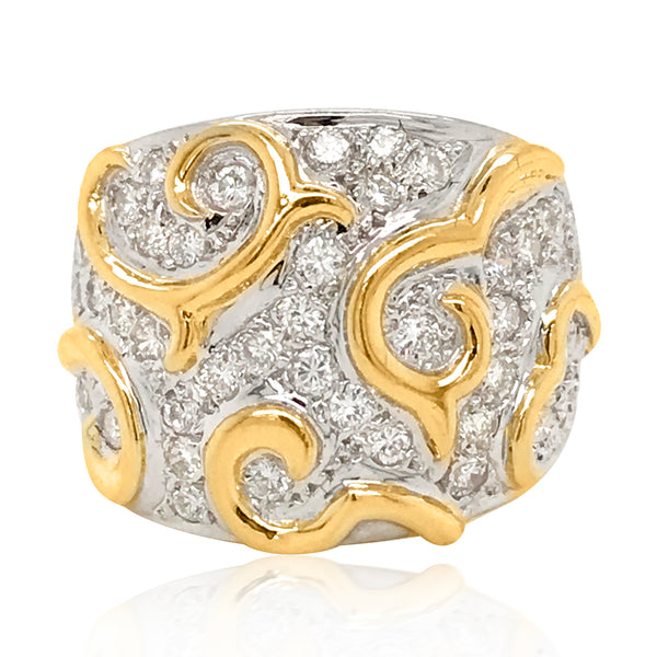 18K Gold Diamond Ring - Lueur Jewelry