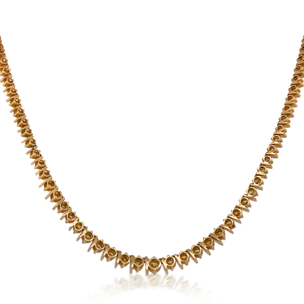 14K Gold Diamond Necklace - Lueur Jewelry