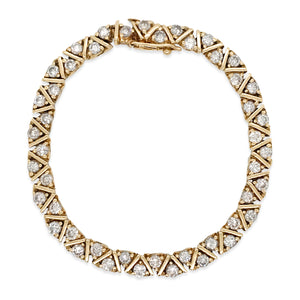 14K Gold  Diamond Bracelet - Lueur Jewelry