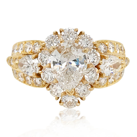 Van Cleef & Arpels, 18K Yellow Gold Diamond Ring - Lueur Jewelry