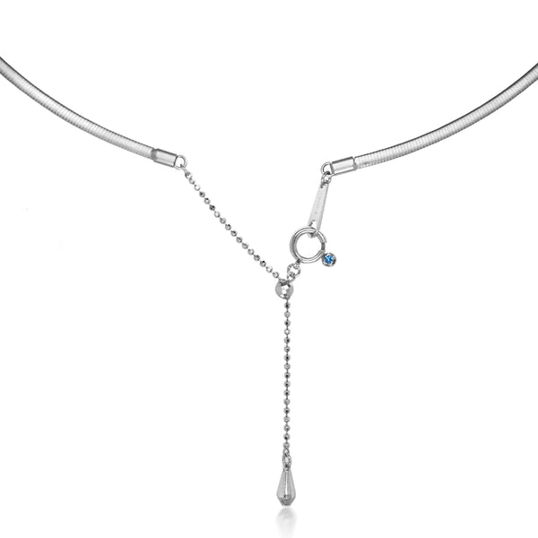 18K White Gold Necklace - Lueur Jewelry