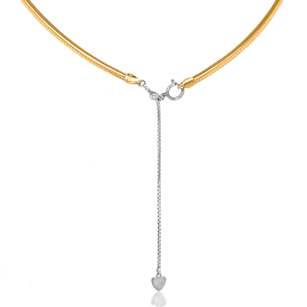 18K White Gold and Yellow Gold Necklace - Lueur Jewelry