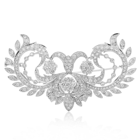Diamond Brooch - Lueur Jewelry