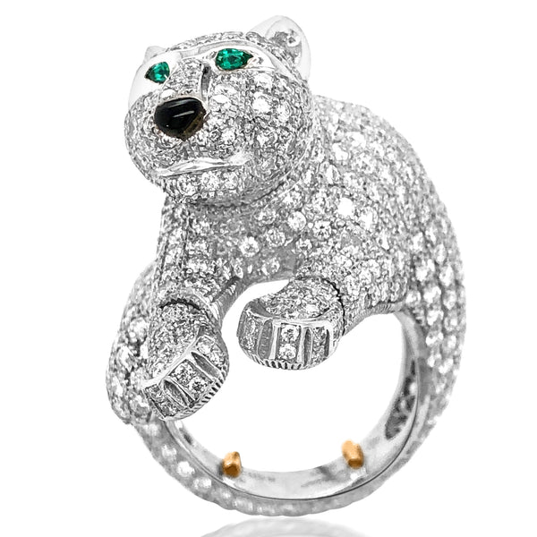Cartier, Diamond Panther Ring - Lueur Jewelry