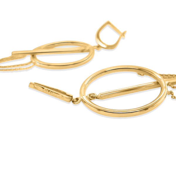 18K Gold Loop Earrings - Lueur Jewelry