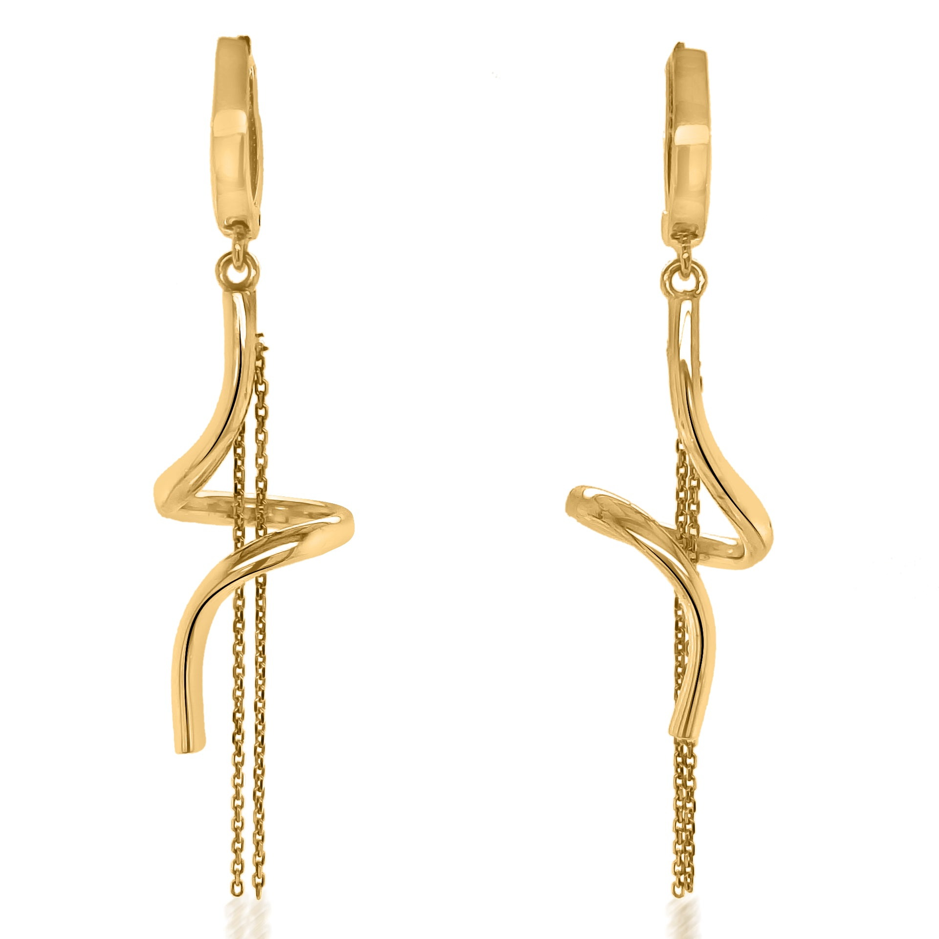 18K Gold Helix Earrings - Lueur Jewelry