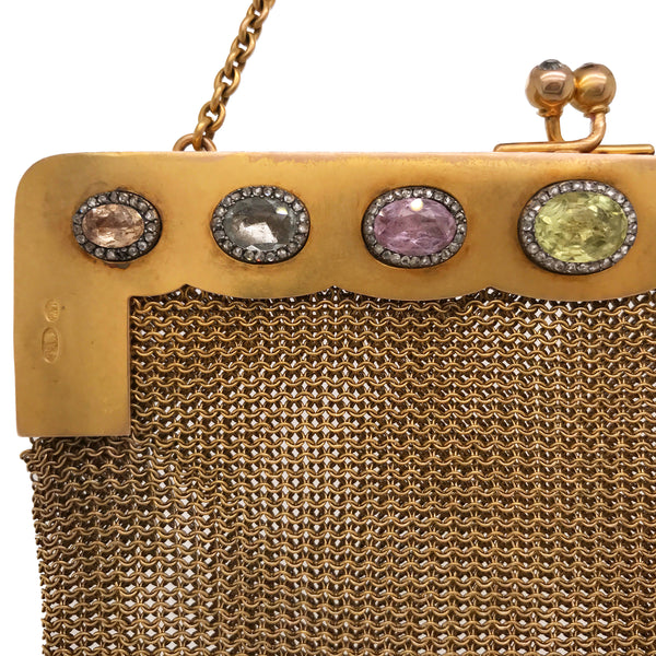 Faberge, Diamond Gold Purse - Lueur Jewelry