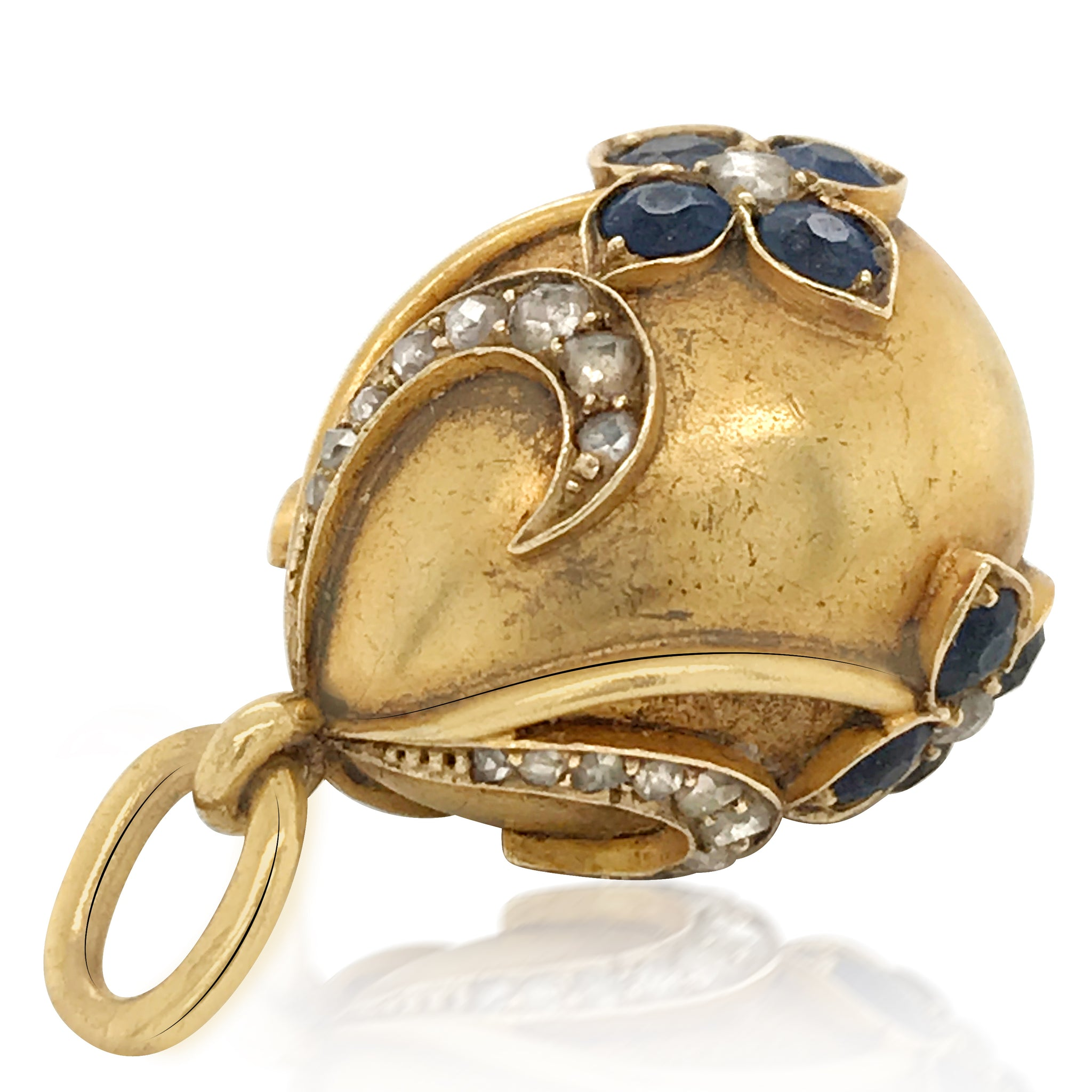Faberge, Sapphire Gold Egg - Lueur Jewelry