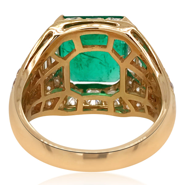 Bvlgari, Emerald Diamond Ring - Lueur Jewelry