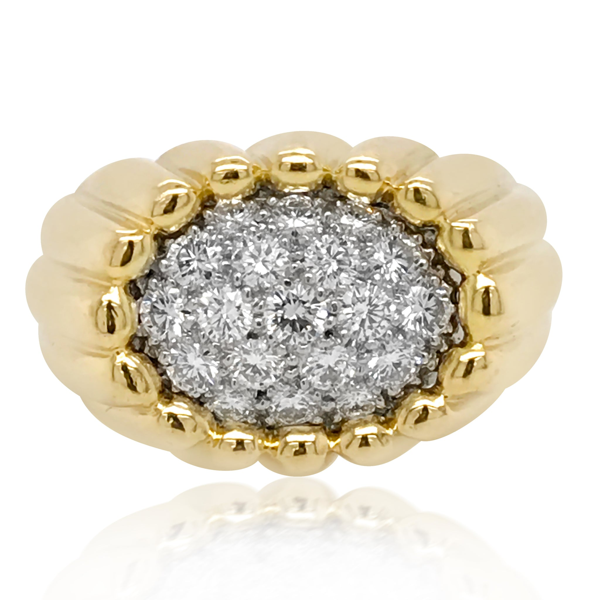 Van Cleef & Arpels, Two-color Gold and Diamond Ring - Lueur Jewelry