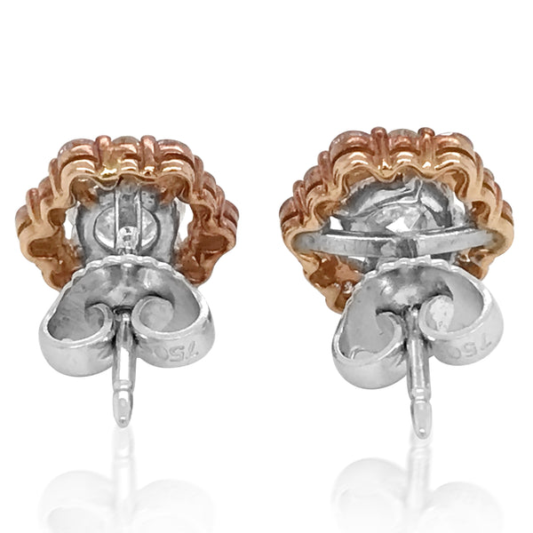 18K Gold Diamond Earstuds - Lueur Jewelry