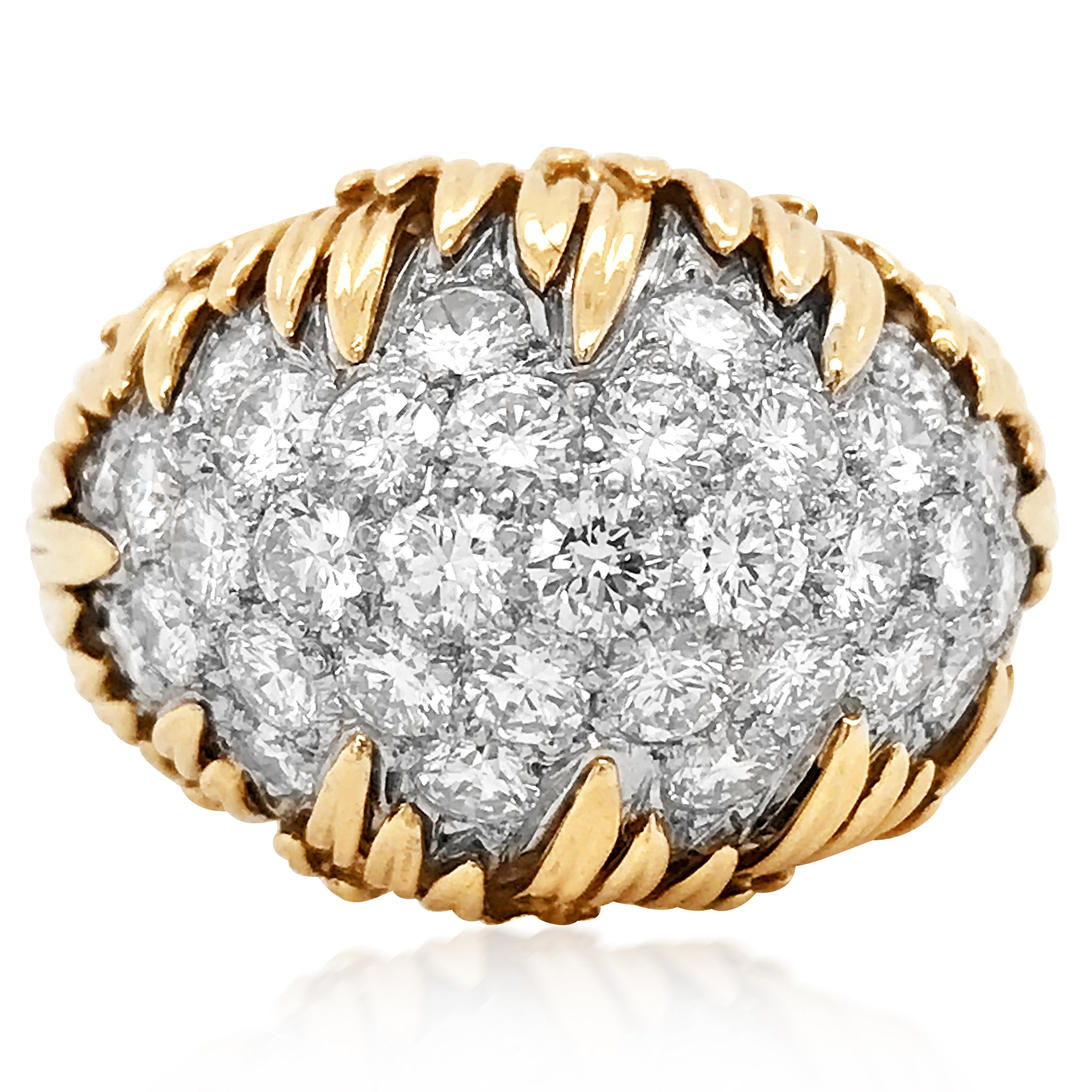Cartier, 18K Gold Diamond Ring - Lueur Jewelry