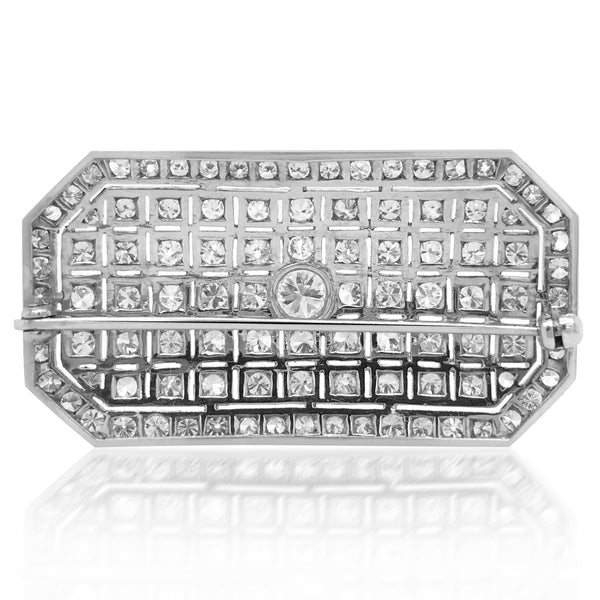 Art Deco Diamond Brooch - Lueur Jewelry