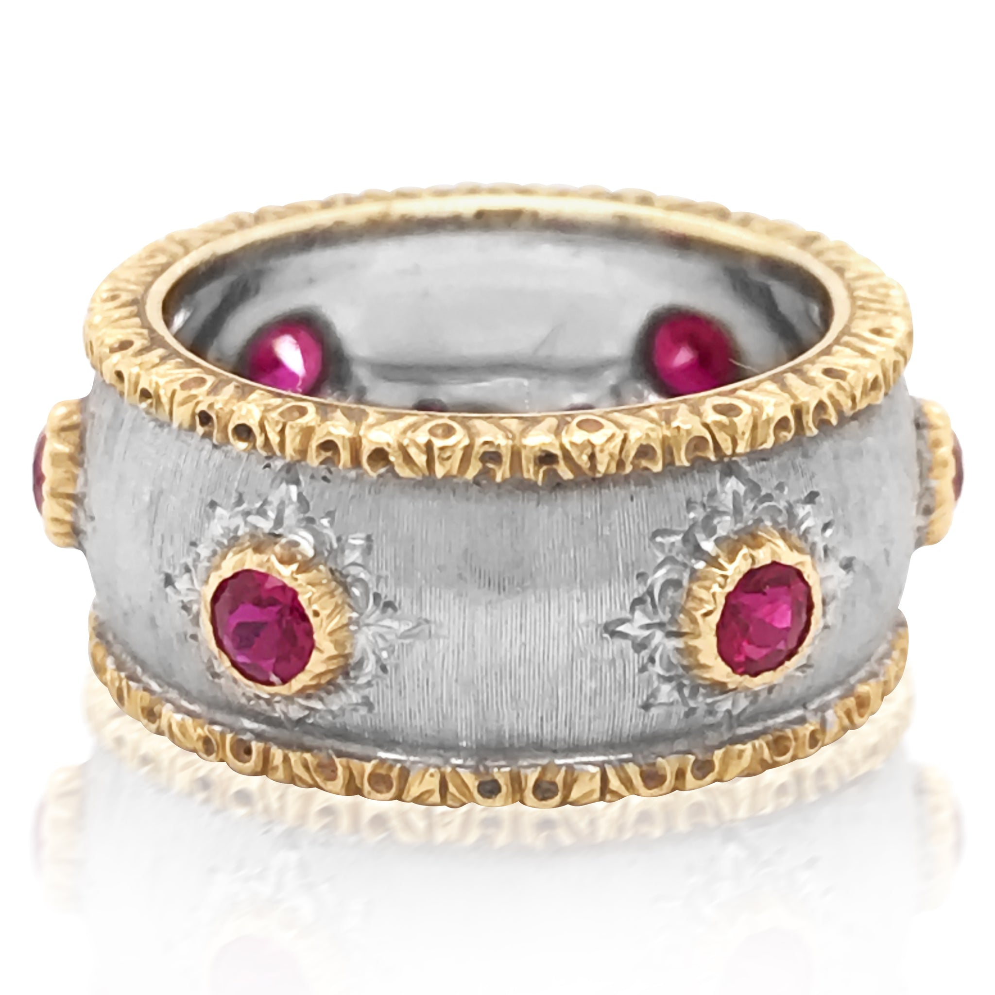 Buccellati, Ruby Gold Ring - Lueur Jewelry