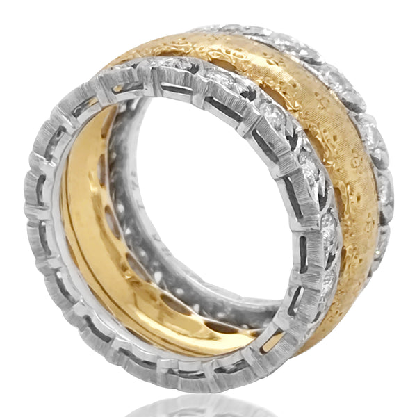 Buccellati, Diamond Gold Ring - Lueur Jewelry