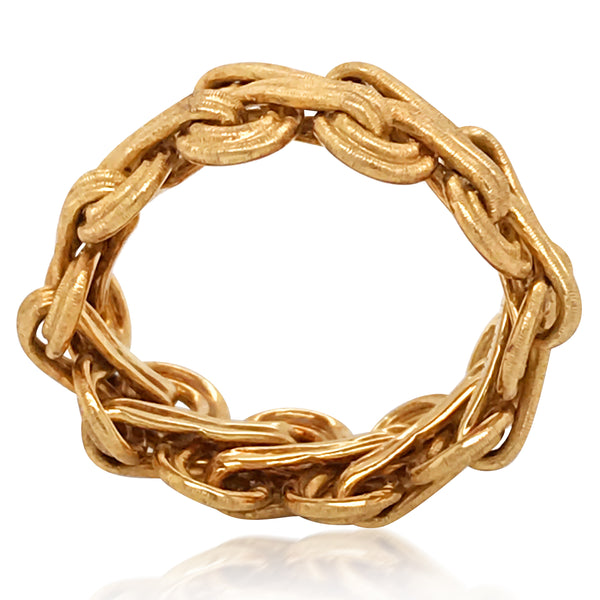 Buccellati, Textured Yellow Gold Ring - Lueur Jewelry