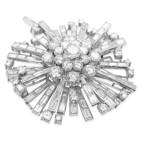 Diamond Starburst Brooch - Lueur Jewelry