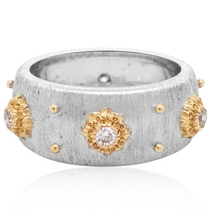 Buccellati, 18K Two-color Gold Diamond Ring