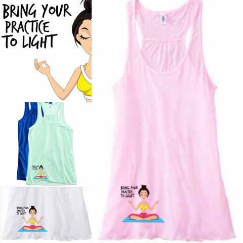 Bring your practice to light flowy tank!