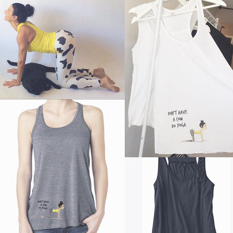 Don't have a cow do yoga flowy tank!