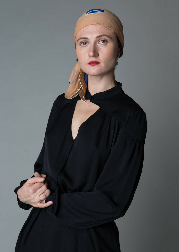 Olga Kapustina Silk Georgette Blouse in Black