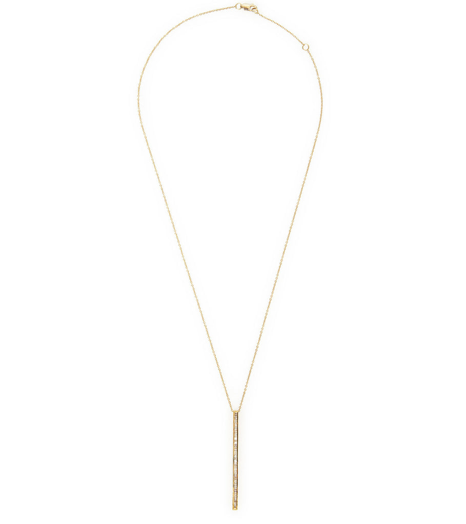 BAGUETTE BAR DROP LONG NECKLACE