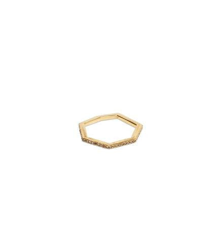 GEOMETRIC STACKABLE RING, LIGHT DIAMOND, 1SZ
