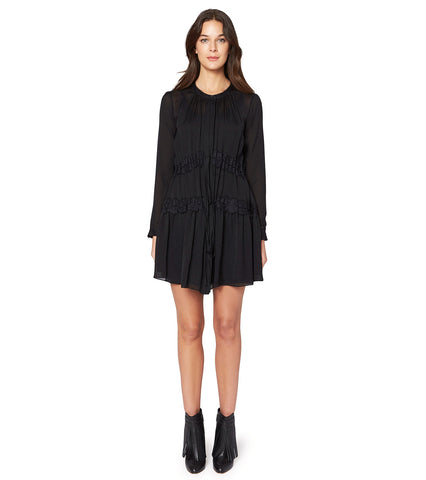 L/S BUTTON UP A-LINE DRESS