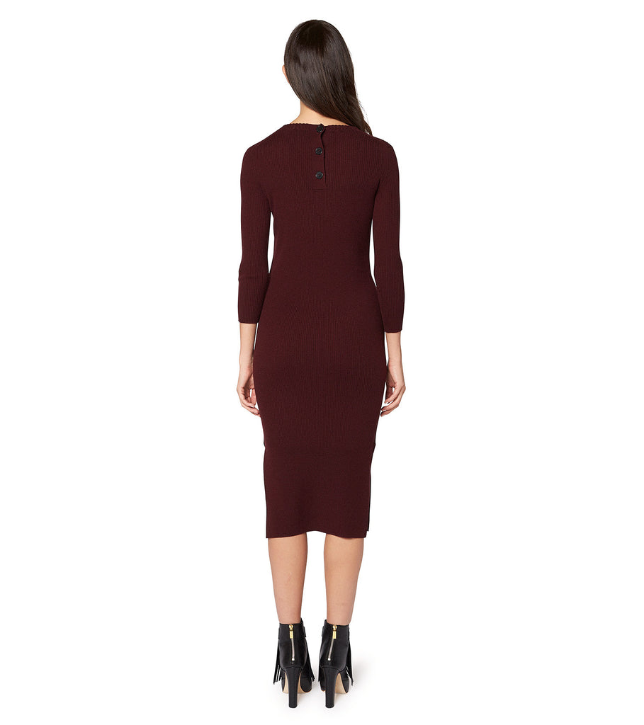 LONG SLEEVE LONG FITTED DRESS