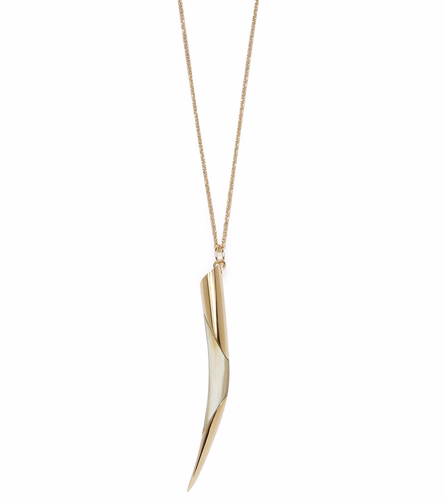 Long Horn Tip Necklace