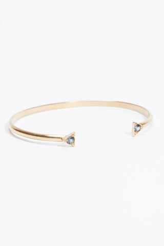 Double Triangle Bracelet - Blue Green