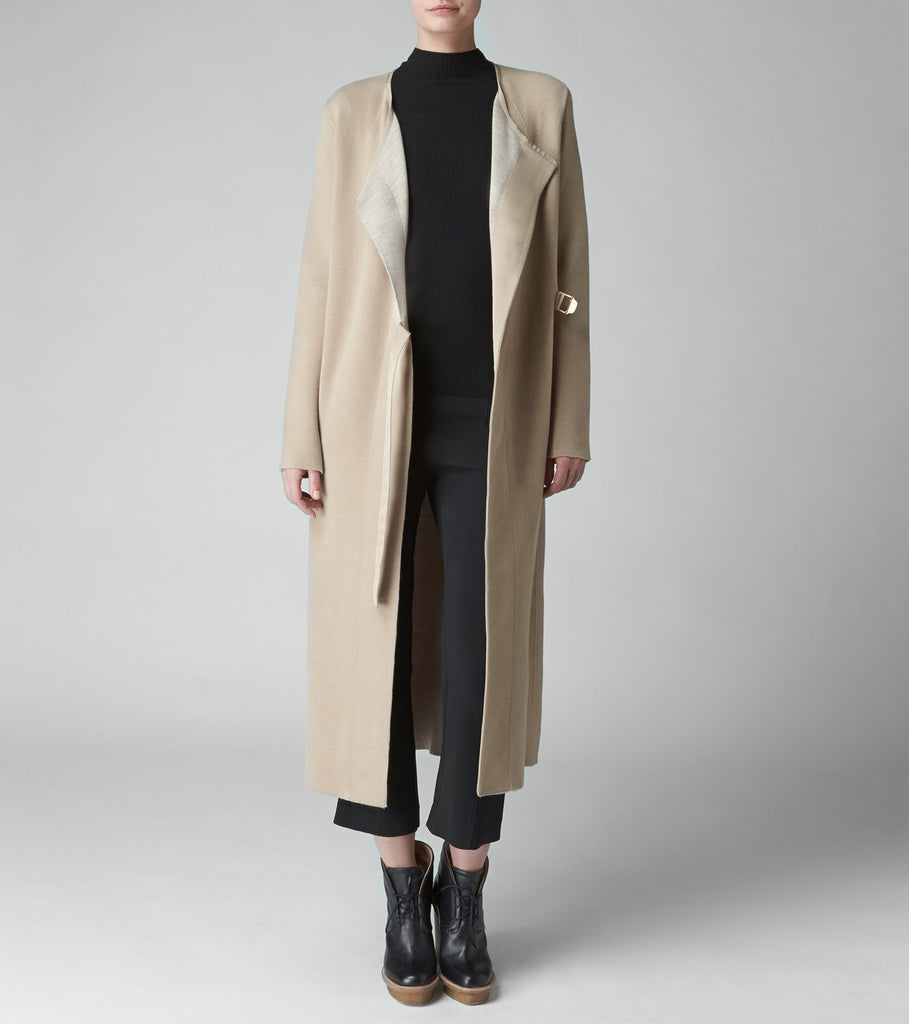 DOUBLE KNIT DUSTER COAT