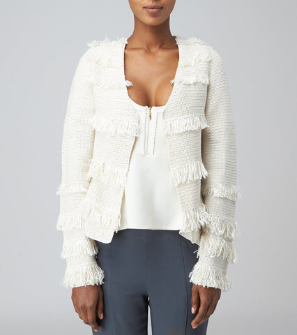 STRIPE FRINGE JACKET