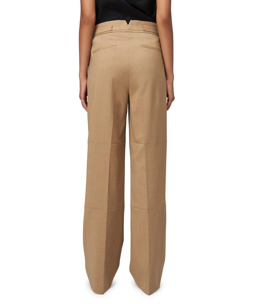 SEAMED TROUSER W/ WAIST DETAIL