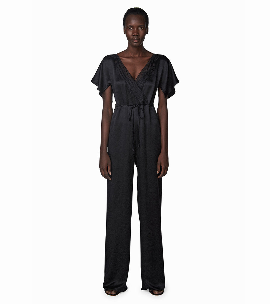 SURPLICE V JUMPSUIT