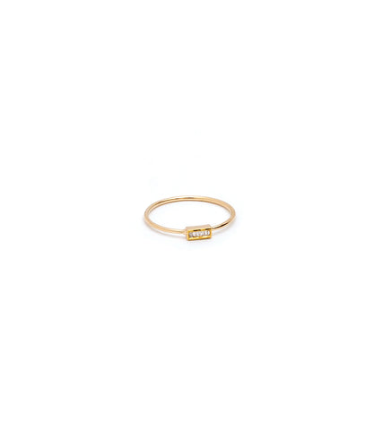 SINGLE BAGUETTE DIAMOND STACKABLE RING