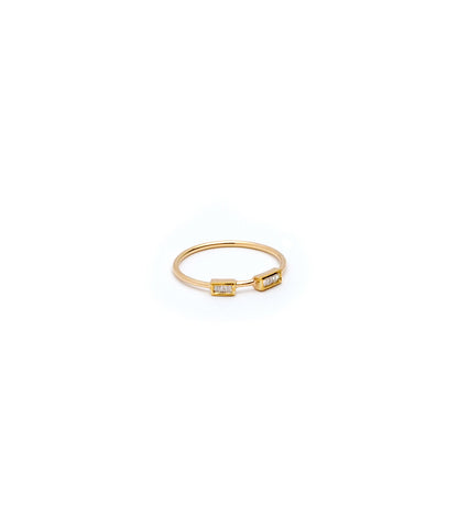 DOUBLE BAGUETTE DIAMOND STACKABLE RING